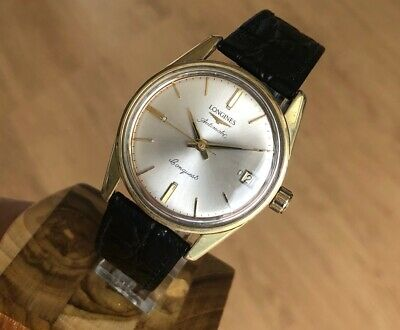LONGINES CONQUEST GOLD & STEEL AUTOMATIC 34mm CAL 291 VINTAGE WATCH FOR MEN