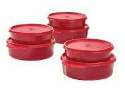 Tupperware New Sparkling Red Wonders Bowls Set of 6