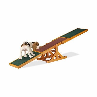 Wooden Dog Seesaw Pet Agility and Training Equipment