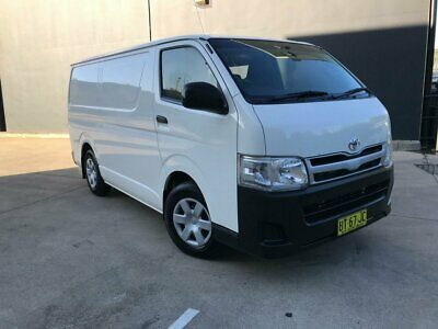 2013 Toyota HiAce TRH201R MY12 Van LWB 4dr Man 5sp, 1085kg 2.7i White Manual M