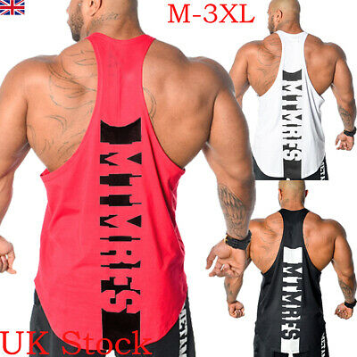 HOT MenS Vest Muscle Stringer Bodybuilding Gym Tank Top T-Shirt Fitness Tee