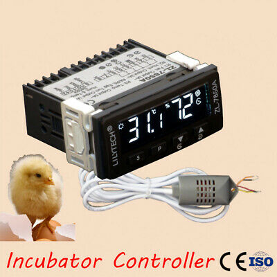 Multifunctional ABS Incubator Controller Temperature Humidity Dual Display Timer