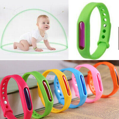 1-6PCS Outdoor Anti Mosquito Pest Bug Repellent Wrist Band Silicone Bangle