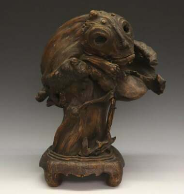 Antique Chinese Handcarved Burl Tree Root Spirit Carving