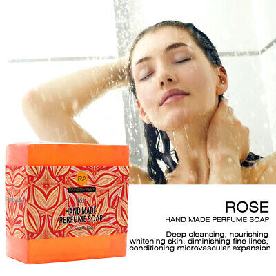 Rose Handmade Natural Soap Bar Moisturizing Bath Body Glycerin Parabens SLS Free