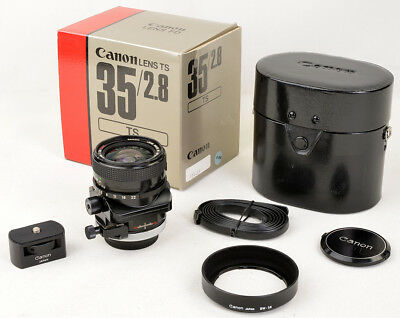 CANON LENS TS 35mm 1:2,8 SSC BOXED, COMPLETE, 100% MINT CONDITION A+, like NEW !