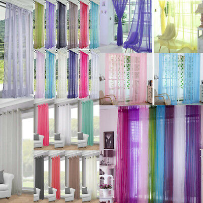 Pair (2Panels) Of Lucy Voile Slot Top Panels Top Quality Net&Voile Curtains 1*2M