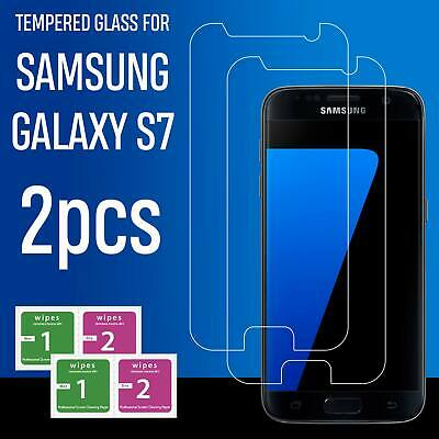 For Samsung Galaxy S7 Full Coverage 3D Tempered Glass Screen Protector Guard 2X
