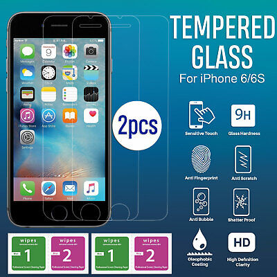 2 x 3D Full Cover For Apple iPhone 6S 6 Screen Protector Guard Tempered Glass OZ