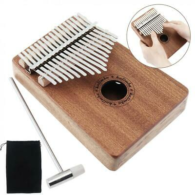 17 Key Kalimba Thumb Piano Single Board Sapele Mbira Mini Keyboard Instruments