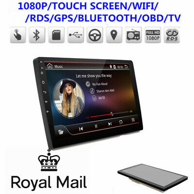 """UK ! 9"""" Android 8.1 2DIN Car Stereo Radio GPS Video Player 1+16G Mirror Link OBD"""
