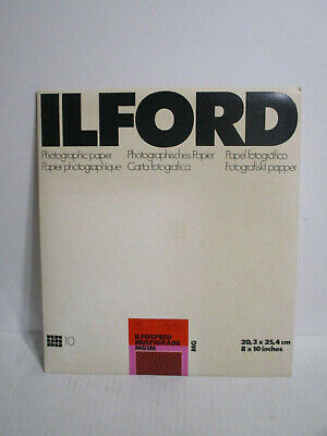 SEALED ILFORD 8X10 Glossy Sheet Photo Paper MG1M Ilfospeed Multigrade 10 sheets