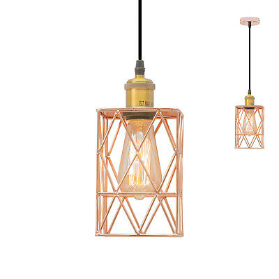 Pendant Lighting Copper Industrial Vintage Retro Cage Hanging Lamp Light