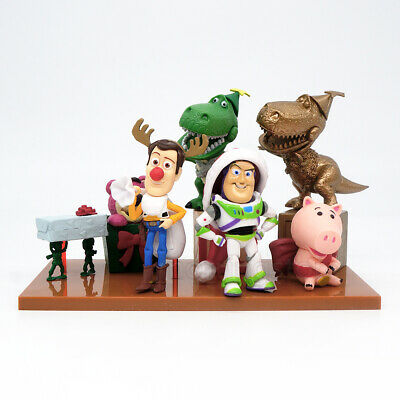 7 Pcs Disney Movie Christmas Toy Story Buzz Lightyear Woody Action Figure Statue