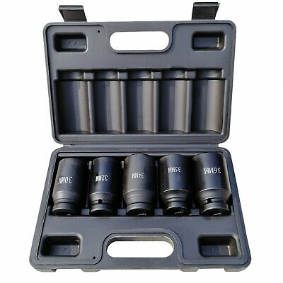 "5 Pcs 1/2"" Drive Square CR-MO 6 Point / 12 Point Impact Socket Wrenches Tool Set"