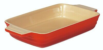 Le Chasseur Extra Large Rectangular Baking Dish Red Rrp$87.95