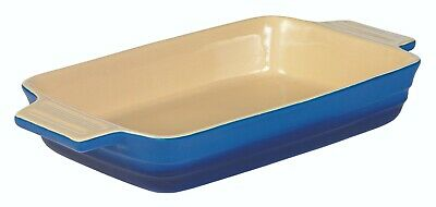 Le Chasseur Extra Large Rectangular Baking Dish Blue Rrp$87.95