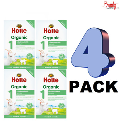 (4 PACK) Holle Organic Infant Goat Milk Formula Stage 1 From Birth -400g