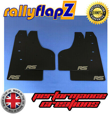 rallyflapZ FORD FOCUS RS Mk3 Mud Flaps Kit Inc:Fixings Black 4mm PVC Logo Anthra
