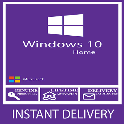 Instant Windows 10 Home Key 32 / 64Bit Activation Code License Activation Code