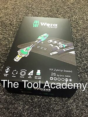 Wera Tools Last Few Left Kraftform Compact Zyklop 1/4 Dr Ratchet Driver Bit Set