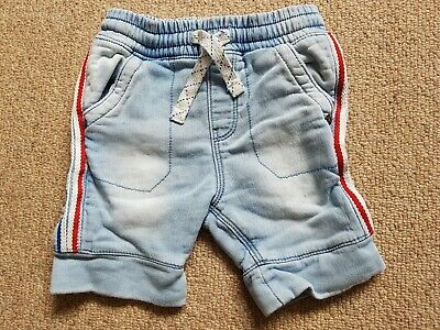 Boys Next Washed Denim Shorts 1.5 - 2 Years / 18-24 Months - Draw String Thick