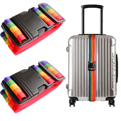 67inches Travel Luggage Suitcase Strap Baggage Backpack Bag Rainbow Color Belt