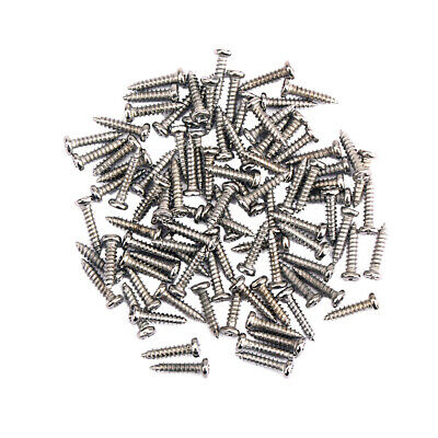 100 Pcs Tuning Peg Tuner Mounting Screws for Guitar Bass Nickels Accessories