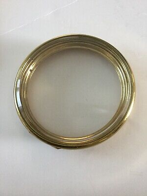 Vintage Brass Hinged Clock Bezel Ring With Glass No 777 L
