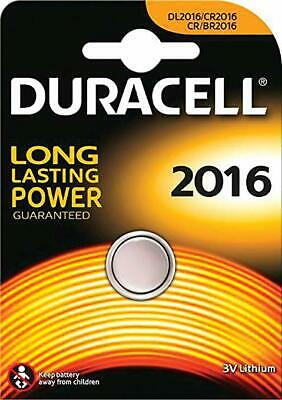 1/10 NEW Duracell 2016 3V Battery CR2016 DL/BR2016 Lithium Coin Cell Long Expiry