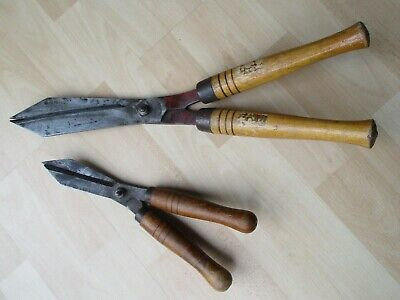 Vintage Retro Gilpins Garden Tools Shears Hedge Cutters Trimmers Patina England