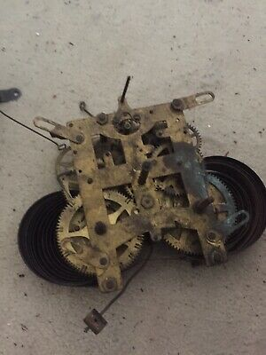 Antique American  Wall Clock Movement Working