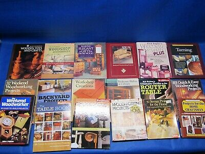 Lot of 18 Vintage Woodworking Projects Books Magazines
