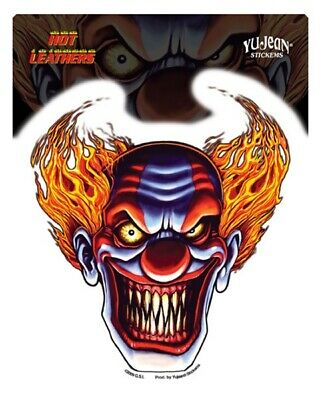 Autocollant Biker - Evil Clown - Sticker Vinyl Decoration Usa / Biker