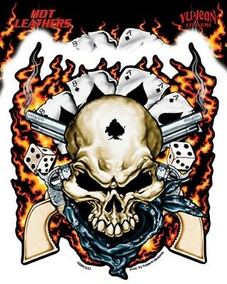 Autocollant Biker - Skull Roses -  Sticker Vinyl Decoration Usa / Biker