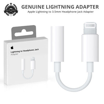Genuine Apple Lightning to 3.5mm Headphone Jack Adapter For iPhone 7 8 X XR XS