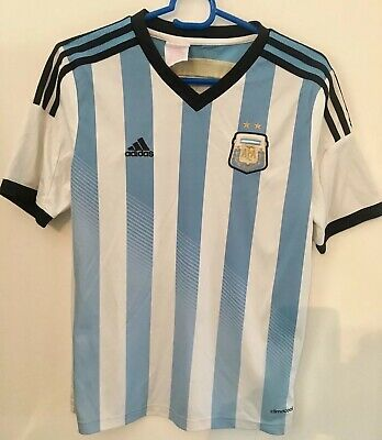 Genuine Authentic Argentina Football Soccer Home Shirt Youth L 164Cm 2013/2014