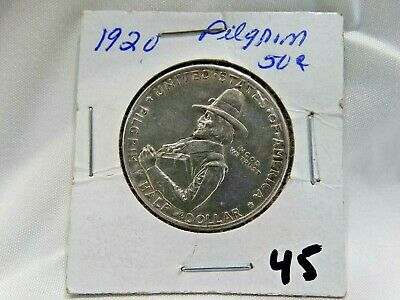 1920 US Pilgrim Commemorative Half Dollar 50 Cents Silver Nice Coin
