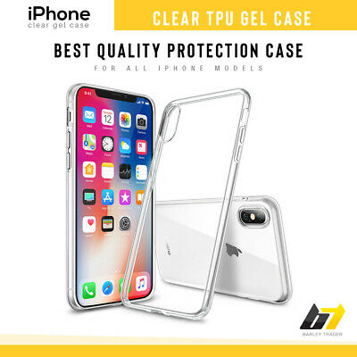 Case For iPhone 5 6 8 7 Plus XR XS MAX ShockProof Soft Phone Cover TPU Silicone