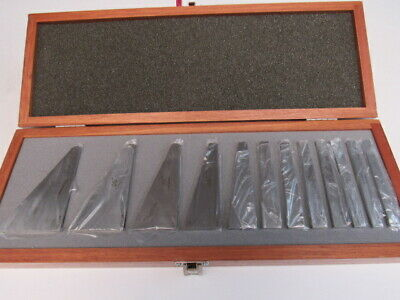 12 Pce Angle Block Set - Made In Japan  - New In Fitted Wood Box