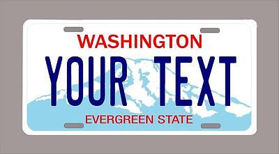"""WASHINGTON custom novelty license plate-your name or text 6""""x12"""""""