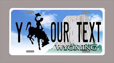 """WYOMING custom novelty license plate-your name or text 6""""x12"""""""