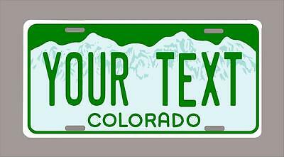 """Colorado custom novelty license plate-your name or text 6""""x12"""""""