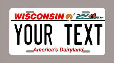 """WISCONSIN custom novelty license plate-your name or text 6""""x12"""""""
