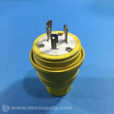 Woodhead L5-20P Safety Yellow Water Tight Male Plug USIP