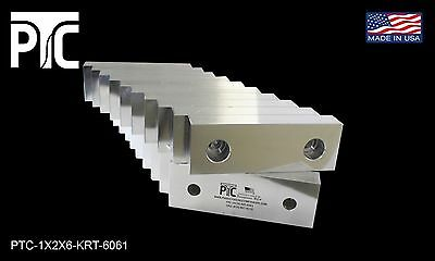 """6x2x1"""" Machinable Aluminum Soft Jaws, Fits 6"""" Vises, 10 Pack FREE SHIPPING"""