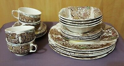 JOHNSON BROTHERS OLDE ENGLISH COUNTRYSIDE 20 PC. Dinner-bread-cereal-cup-saucer
