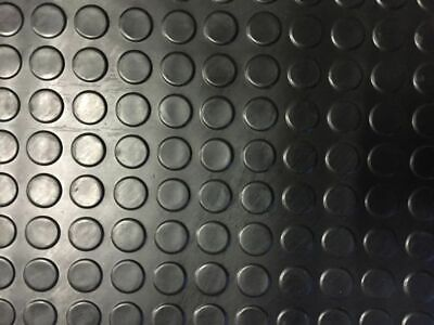 RUBBER FLOOR MATTING COIN DESIGN 3MM THICK VERY WIDE SIZE 1.2m, 1.5m, 1.8m