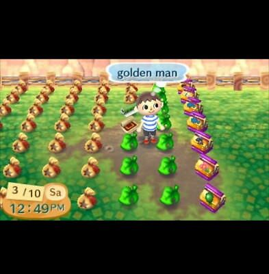 Golden Room Set + 5 million Bells & Golden Tools - Animal Crossing New Leaf ACNL
