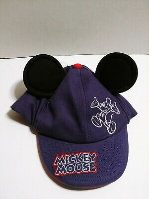e035ecb1e66796 Disney Toddler Mickey Mouse Hat with ears size 6- 12 months blue red
